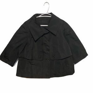 Derek Lam Black Trench Coat - Short